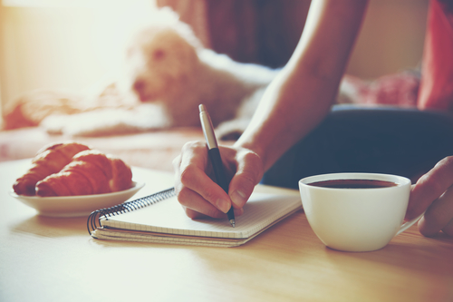 Journal writing in the morning will help decrease anxiety